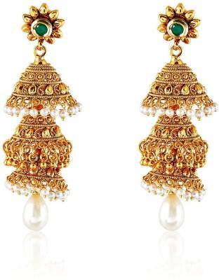 Royal Bling TRIPLICATE CROWN Copper Jhumki Earring