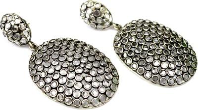 Anavaysilver Ear063 Crystal Silver Drop Earring