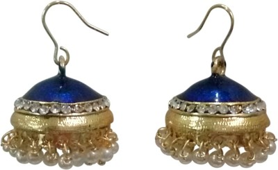Deco Junction JUOXB28BLU Alloy Jhumki Earring
