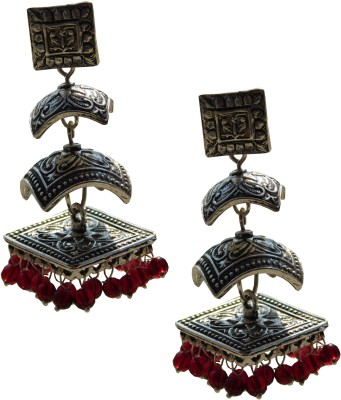 Excellent Gems German Metal Jhumki Earring