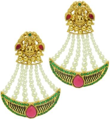 Peora Goddess Brass Drop Earring