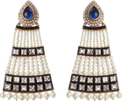 SAADGI Designer Collection with Blue Stone Alloy Drop Earring