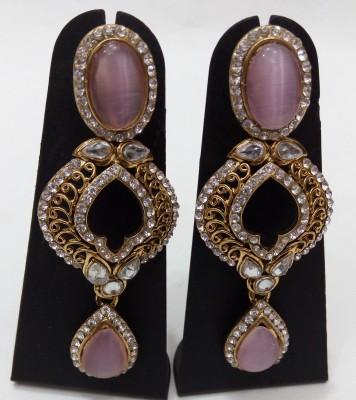 Womaniya pink beauty Beads Alloy Drop Earring