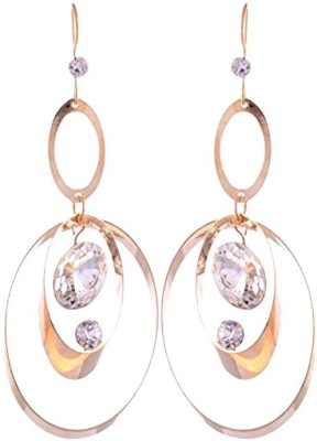 Gliteri Golden handing double hoop Metal Dangle Earring