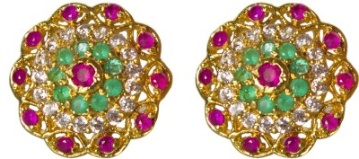 Jewelgrab Elegant Ruby Alloy Stud Earring