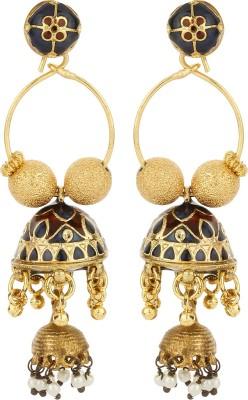 Dilan Jewels Meena Bali Beads Alloy Jhumki Earring