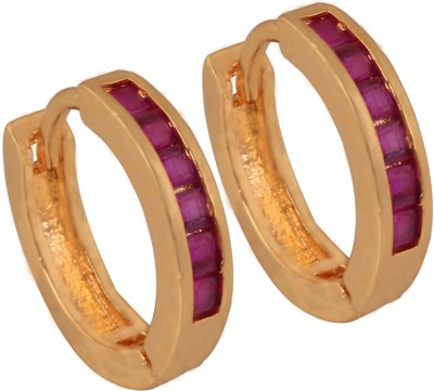 SuperShineJewelry Spring Sparkle Ruby Brass Cuff Earring