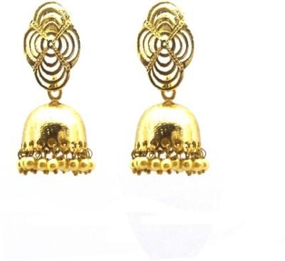 Gurjari E40JUMKHIS Beads Brass Jhumki Earring