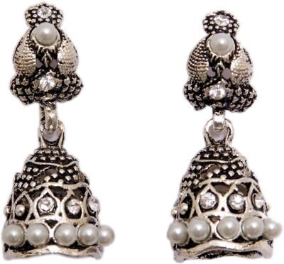 Greek Sojourn F3B54 Pearl Brass Drop Earring