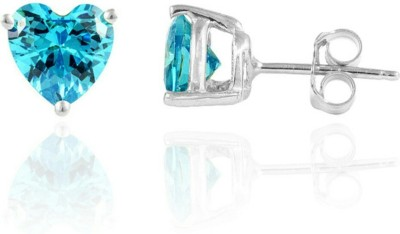 S S Jewellers Tops Cubic Zirconia Sterling Silver Stud Earring