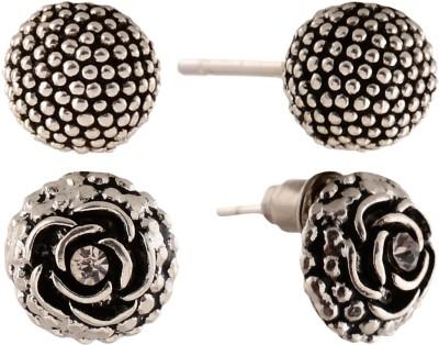 Anokhi Ada Rose and Dot Sphere Metal Stud Earring
