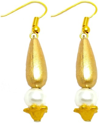 TimesDeals Times Sparkle Pearl Alloy Drop Earring
