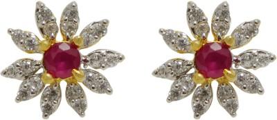 Maheshwari Fashion Cubic Zirconia Copper Stud Earring