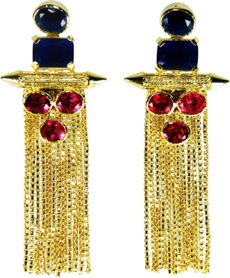 Ltd Edition E-1003 Crystal Copper, Brass Chandelier Earring