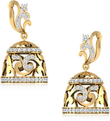 IskiUski The Celestial Swarovski Crystal Gold Jhumki Earring at flipkart