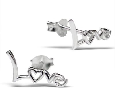 Maayin Love Sterling Silver Stud Earring
