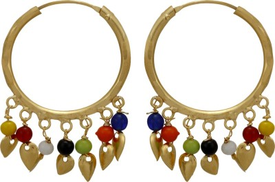 Prita Classic Multicolor Alloy Hoop Earring