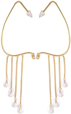 Sale Funda 4 hangings Pearl Alloy Cuff Earring