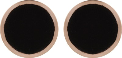 Gracent Circle of Life Black Fabric and Metal Metal Stud Earring