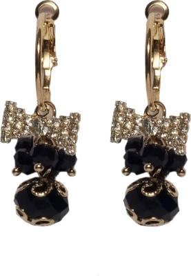 Sparkling Trinkets Black Alloy Drop Earring
