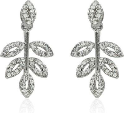 BoBell Designer Indian leafy AD Copper Drop Earring