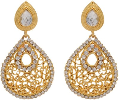 Jaipur Mart Good Looking Jaaldar Shiny Paan Shape Alloy Drop Earring