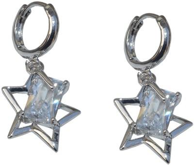 Gen 7001_STARS Zircon Sterling Silver Plug Earring