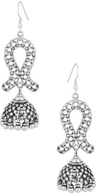 Gemshop SHINING STERLING 92.5 WITH OXIDIZED PLATING Silver Dangle Earring