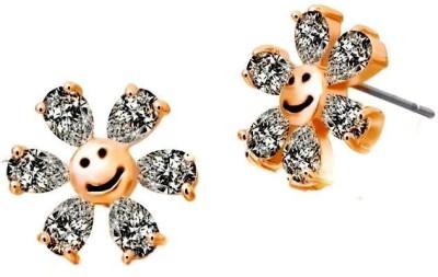 Roma Brothers Smile Swk1 Swarovski Crystal Alloy Stud Earring