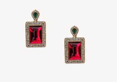 Oars Pink Shine Acrylic, Metal Dangle Earring