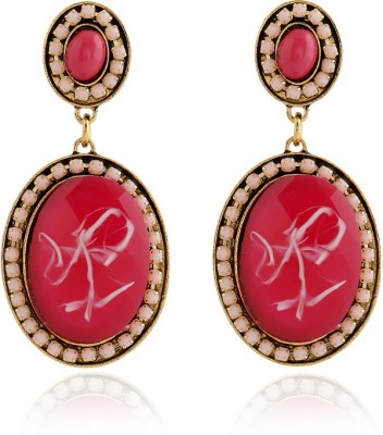 Insia Frolic Wine Alloy Drop Earring