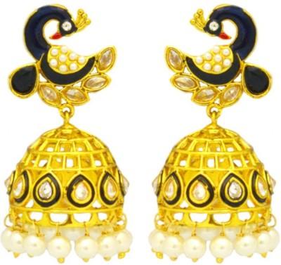 Dilan Jewels Mayur Bells Silver Jhumki Earring