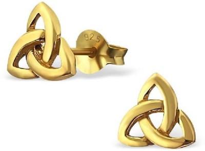 Maayin Gold Knot Silver Stud Earring