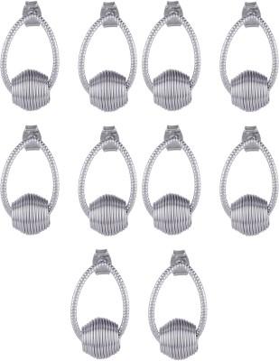 Dubbai Gold Spiral Charm Metal Earring Set