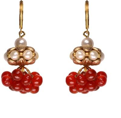 Rasaam Small lollypop Beads Alloy Jhumki Earring