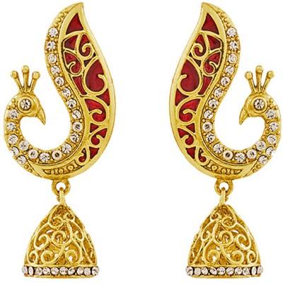 REEVA FASHION JEWELLERY PEACOCK JHUMKI Zinc Jhumki Earring