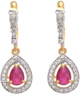 Jewel Away Stylish Diamond Brass Clip-on Earring