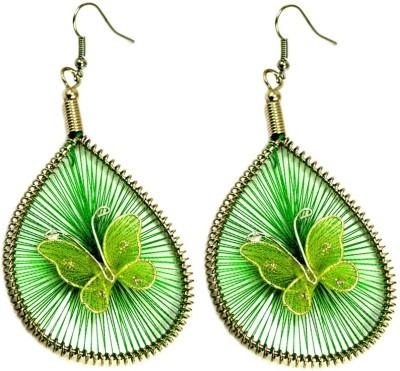 Krishna Mart A Pair Of White Metal Butterfly Hippie Danglers Earrings Metal Dangle Earring
