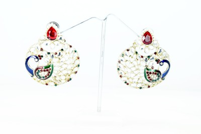 Chouhan Stylish red chandbali Metal Chandbali Earring