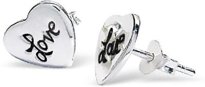 Maayin Heart & Love Sterling Silver Stud Earring