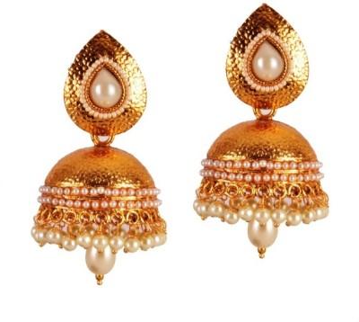 Ratnaraj India Ratnaraj India Design Pearl Copper Jhumki Earring