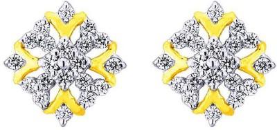 JPearls terrific Cubic Zirconia Gold Stud Earring