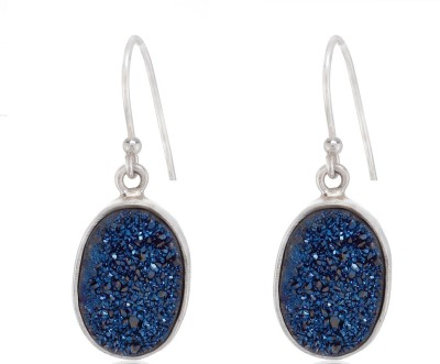 Aarohee Shiny Sparkle Sterling Silver Dangle Earring