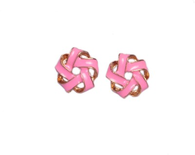 Trinklets Chic Pink Metal, Acrylic Stud Earring