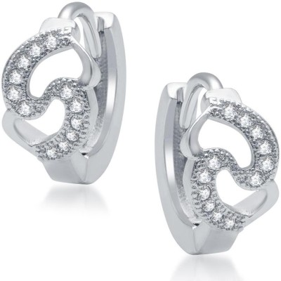 Sukkhi Glittery Micro Pave Cubic Zirconia Alloy Hoop Earring