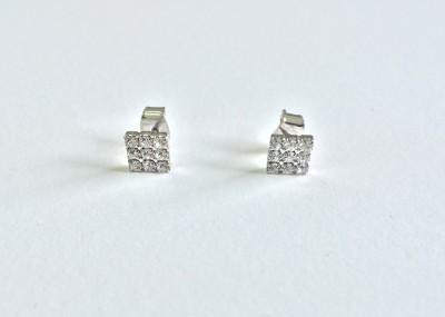 akjewl Sparkle Cubic Zirconia Metal Stud Earring