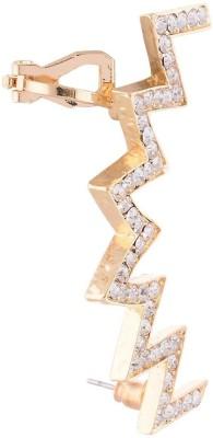 FashionFundamentals Zig Zag Alloy Cuff Earring