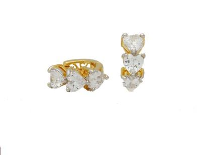 Arc Fashion Sparkling Bali Alloy Huggie Earring