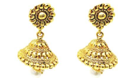 Fashion Pitaraa Golden Sparkel Copper Jhumki Earring