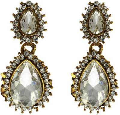 Being Snazzy Queen's Crafted Crystal Alloy Earring Set
